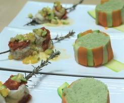 Filet de cabillaud Brunoise de légumes anciens et sa purée de panais aux saveurs d'Italie