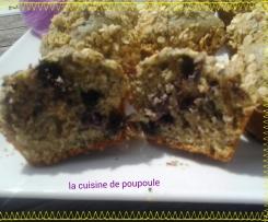 Muffins aux myrtilles et fruits sec