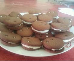 biscuits au chocolat fourrés creme a la vanille