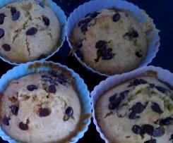 Muffins aux chocolat blanc