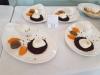 Oeufs poches sur son lit de riz vénéré Quenelles de butternut Duxelle de champignons  Chantilly parmesan