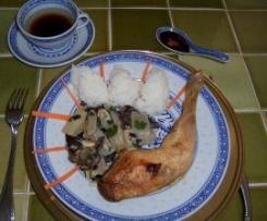 Côtes de blettes et cuisses de poulet façon asiatique