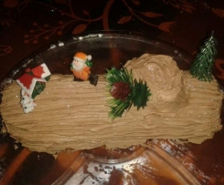 Bûche de Noël crème au beurre au chocolat