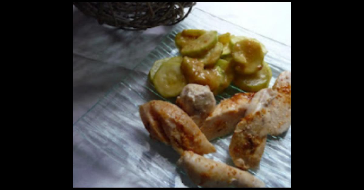 Poulet au curry lait de coco et ses courgettes par papilles on off une recette de fan - Poulet au curry et lait de coco ...