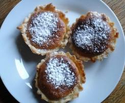 tartelette mirliton (amandes et vanille)spécialité de pont audemer  (haute normandie)