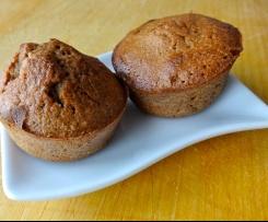 Mini muffins aux peaux de bananes