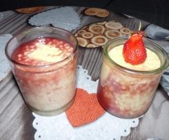 Riz au lait et fraises