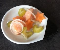 Saumon et petits légumes en pickles