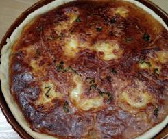 Tarte au thon oignons et mozzarella
