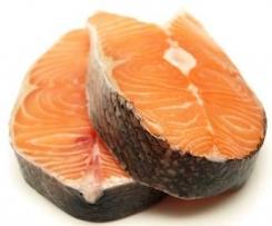 Darne de saumon et riz
