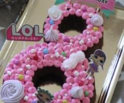 Gâteau Poupées LOL - 8 ans