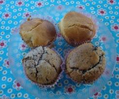 Muffins ultra moelleux aux pépites de chocolat ou au nutella