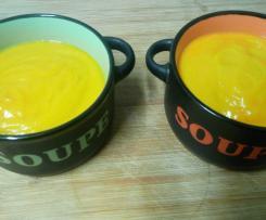 Velouté de patates douces et carottes au lait de coco (recette à indice glycémique bas)