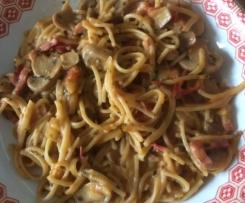 One Pot Pasta Champignons Tomates Basilic