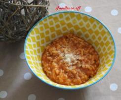 Risotto à la tomate et au parmesan