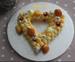 Heart cake au citron meringué  (number cake/letter cake)