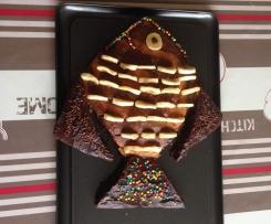 poisson marbré coloré