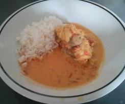 Curry de queue de lotte au lait de coco