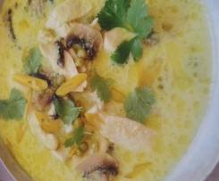 bouillon thaï poulet citronnelle