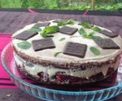 Tarte chocolat- fraise-menthe