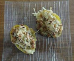 Pomme de Terre farcie au Jambon cru et Comté