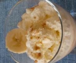 verrines spéculos, banane et caramel