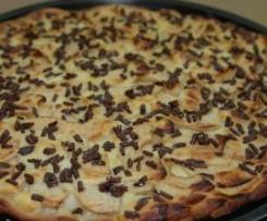 Pizza aux pommes-chocolat