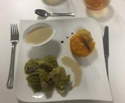 Filet Mignon et ses légumes oubliés sauce Normande