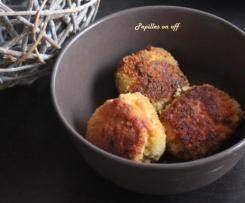 Croquettes de poisson au curry, sauce pimentée