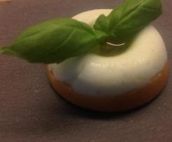 Tomates mozzarella en gelée de basilic