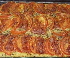 Gratin navets courgettes poivron tomates mozzarella
