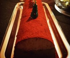 Variante de Bûche glacée praliné-choco