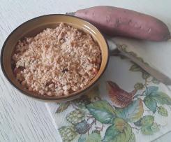 Crumble de patates douces  et pommes