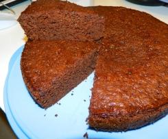 gâteau vite fait  rhum chocolat