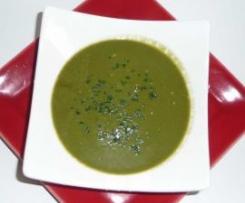 Soupe de courgettes et épinards au cumin