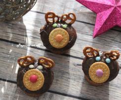 Muffins façon Rennes de Noël