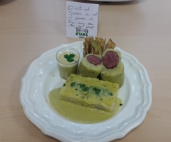 Diots de Savoie en robe de pommes de terre avec son chou et anti gaspi- Thermostars