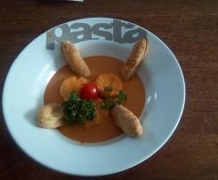 Feuilleté de quenelles avec sa sauce aux crevettes
