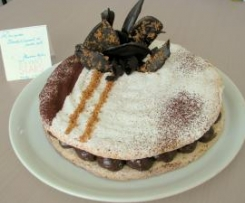DACQUOISE Chocolat - Caramel au beurre salé