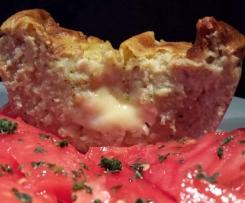 Terrine courgette/ bacon, coeur crémeux camembert.
