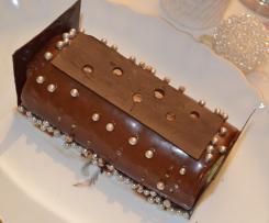 Bûche Choco Coco Pralinée