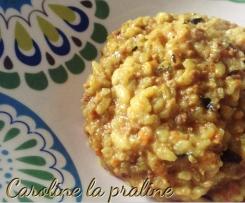 Risotto Carottes et Viande hachée au Curry
