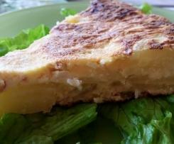 Tortilla courgettes pomme de terre chorizo bacon