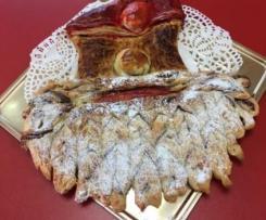 Père Noël feuilleté au nutella et à la cannelle