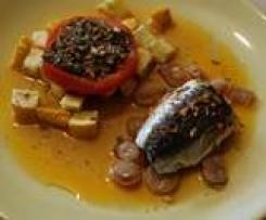 Sardine façon barbecue et des petits légumes du soleil