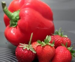 Confiture fraises - poivrons rouges