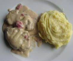 Filet mignon de porc au vinaigre de framboise
