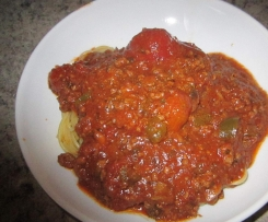Recette de sauce a spaghetti du Quebec de mon arriere grand mere
