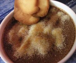 Crèmes brûlées au chocolat et Langues de chat