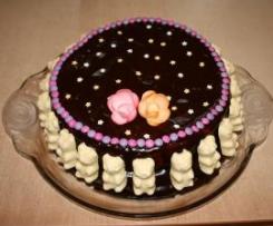 Gâteau d'anniversaire au nutella et aux poires